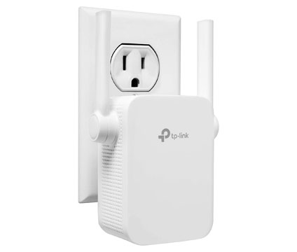 network extender plugged into outlet