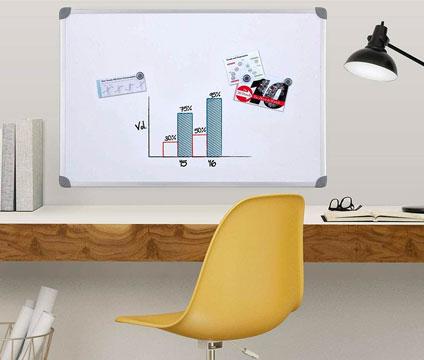 dry erase board at desk