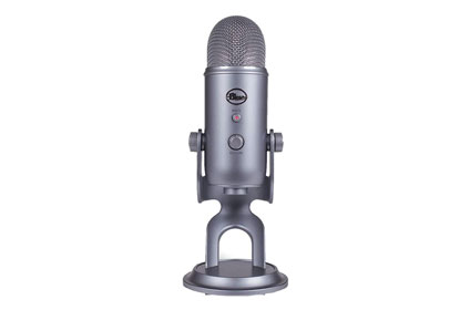 long gray microphone