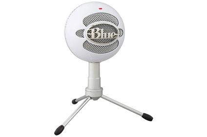 white round microphone