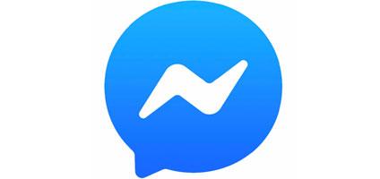 facebook messenger icon white bolt over blue speech bubble