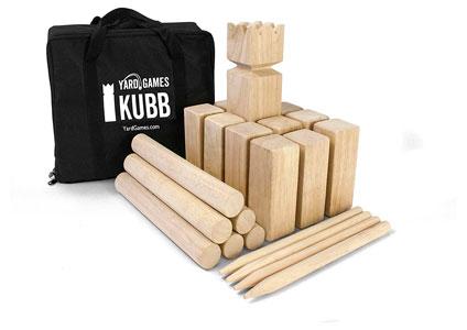 wooden kubb games set