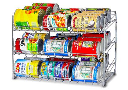 can rack organizer