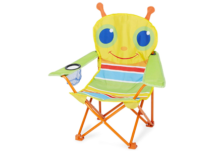 bug-print folding chair